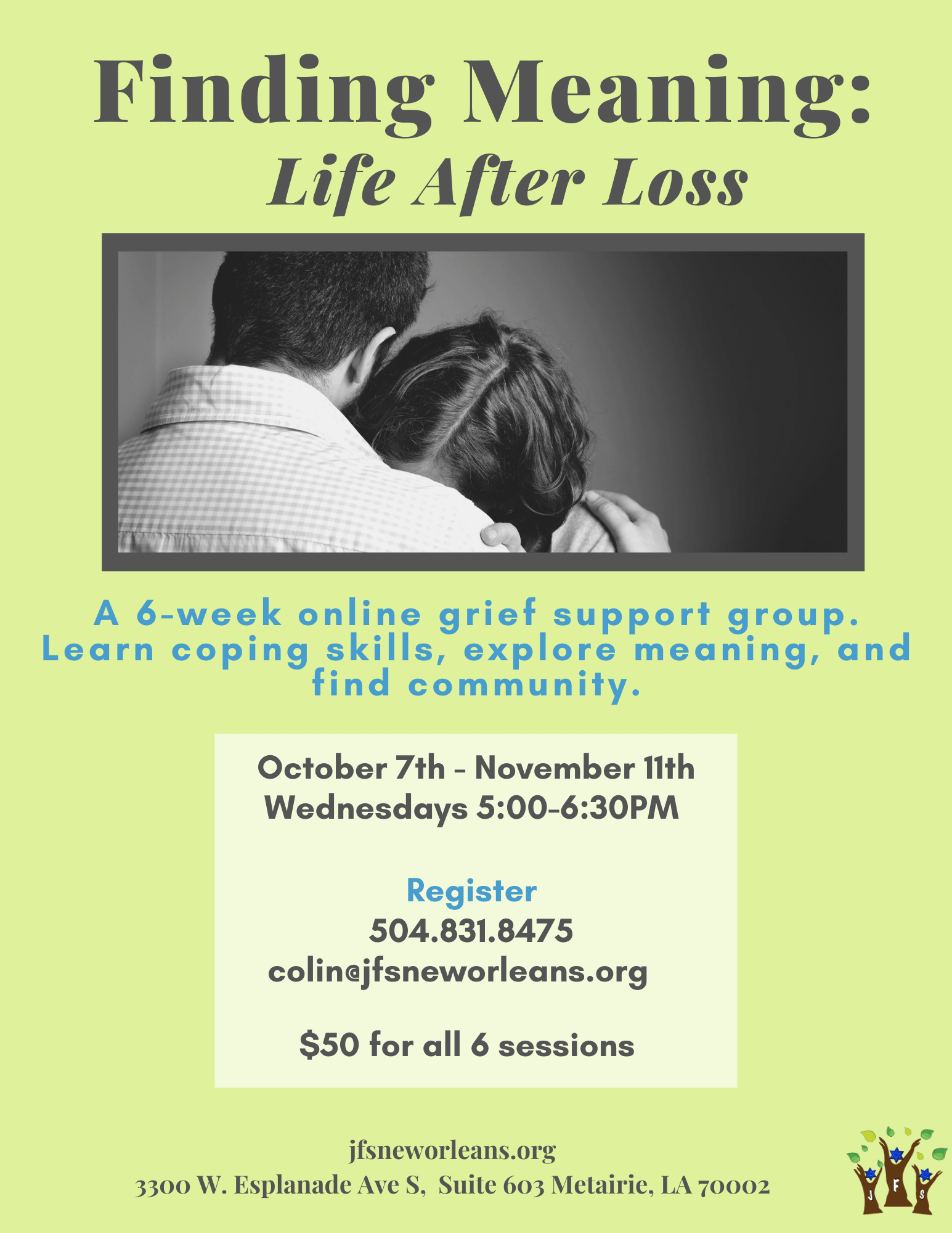 Finding Meaning: Life After Loss @ Zoom Virtual Meeting